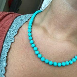KISSAKA turquoise glass bead necklace